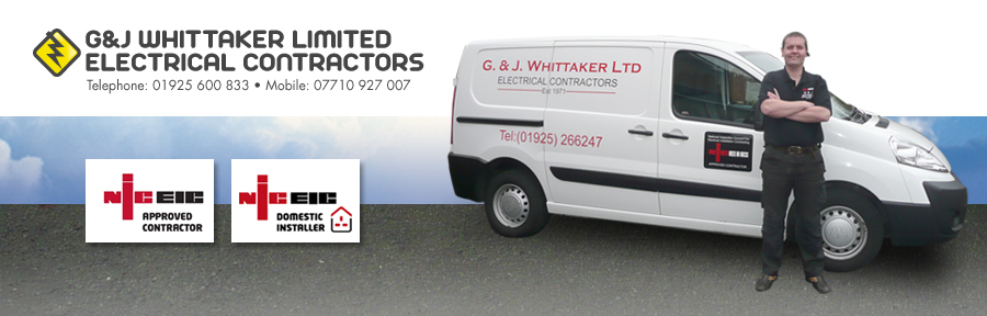 G&J Whittaker electrical contractors company van