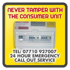 fuse box danger call out service