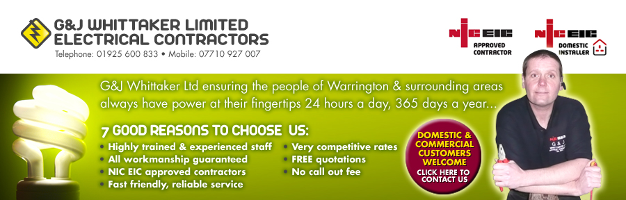 G&J Whittaker electrical contractors warrington electricians