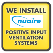 installers of NUAIRE PIV positive input ventilation systems warrington, cheshire